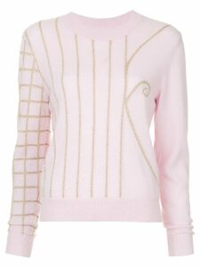 Onefifteen embroidered sweater - Pink