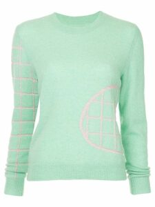 Onefifteen embroidered knit sweater - Green
