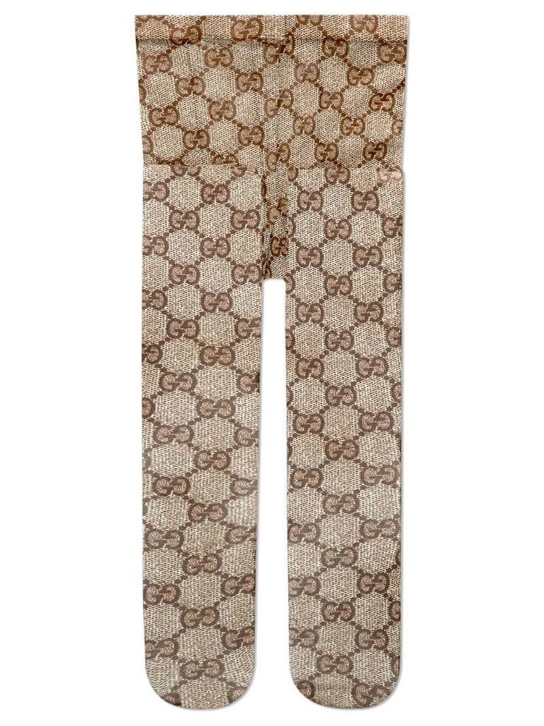 Gucci GG pattern tights - Brown
