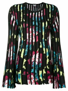 Kenzo pleated floral sweater - Black