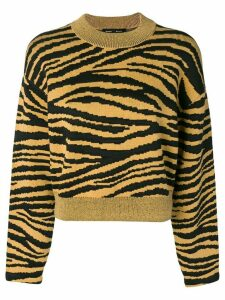 Proenza Schouler Tiger Jacquard Sweater - Yellow