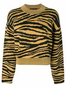 Proenza Schouler Tiger Jacquard Sweater - Yellow