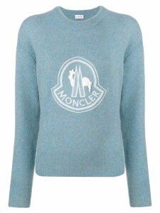 Moncler logo sweatshirt - Blue