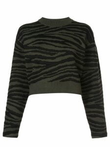Proenza Schouler Tiger Jacquard Sweater - Green