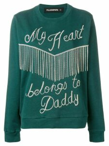 Filles A Papa gemstones sweatshirt - Green