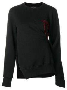 Rokh pinch detail sweater - Black