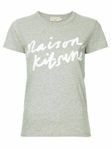 Maison Kitsuné logo print T-shirt - Grey