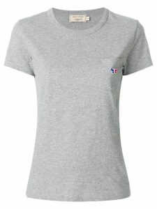 Maison Kitsuné logo chest pocket T-shirt - Grey