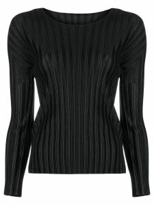 Pleats Please Issey Miyake plissé fitted top - Black