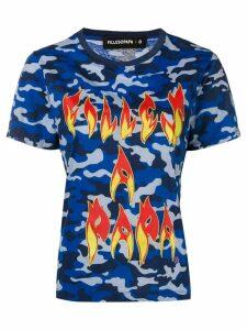 Filles A Papa camouflage T-shirt - Blue