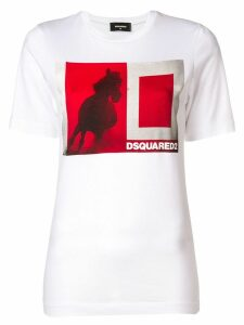Dsquared2 horse print T-shirt - White