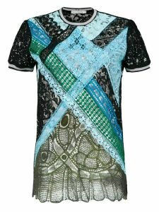 Martha Medeiros lace t-shirt - Blue