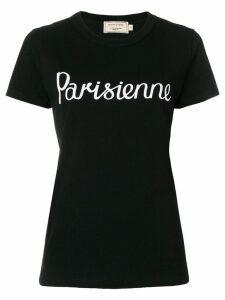 Maison Kitsuné Parisien print T-shirt - Black
