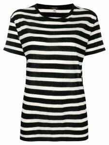 R13 striped T-shirt - Black