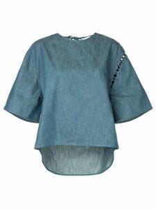 Maison Mihara Yasuhiro wide sleeved denim T-shirt - Blue