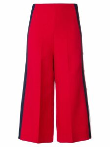 Gucci culotte track pants - Red