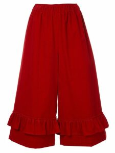 Shrimps Orla frill cropped trousers - Red