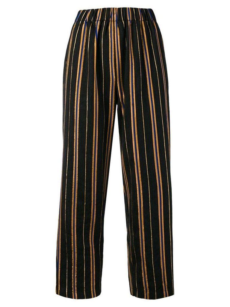 Forte Forte Masai lurex stripe trousers - Black