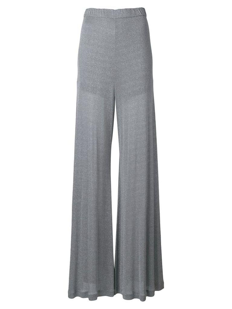 Nina Ricci wide leg trousers - Metallic