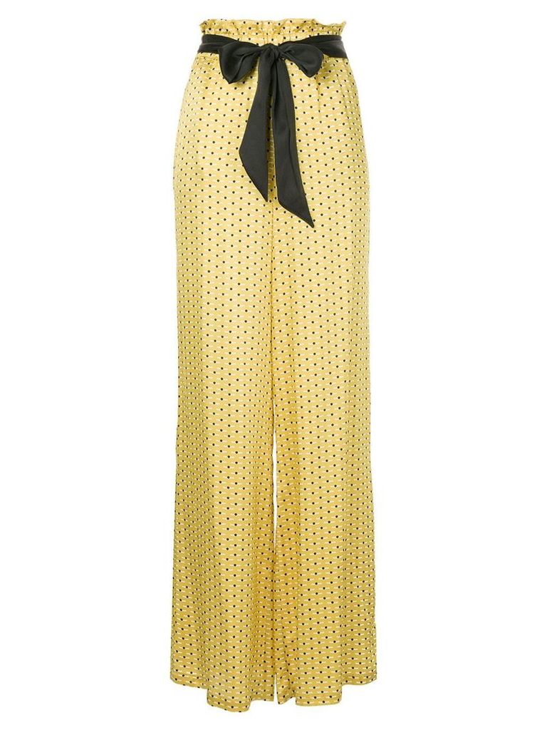 Asceno dot print high-waisted trousers - Yellow & Orange