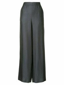 Zero + Maria Cornejo diagonal stripe palazzo trousers - Black