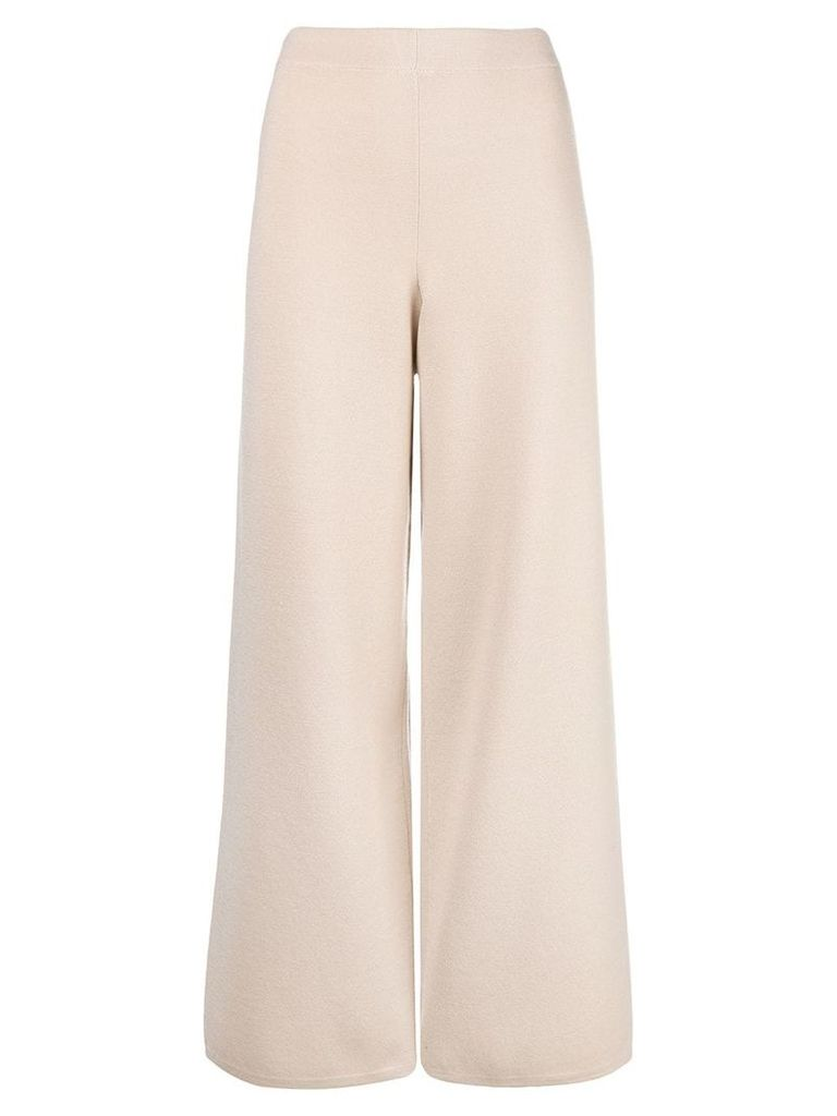 D.Exterior cropped wide-leg trousers - Nude & Neutrals