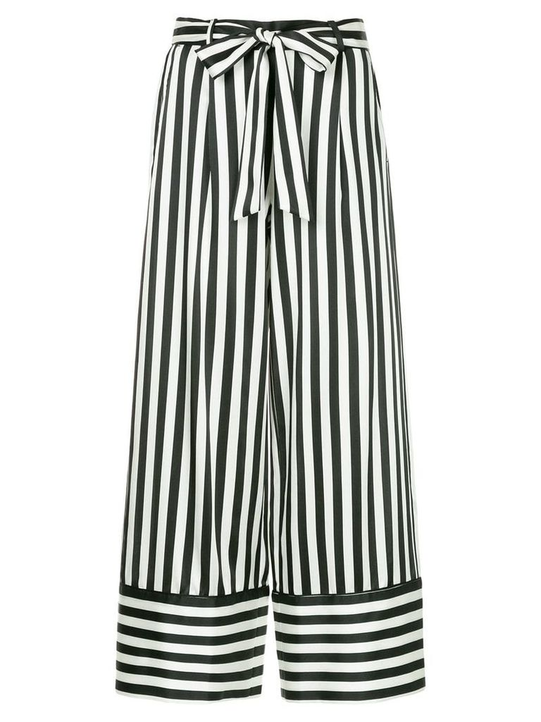 Nobody Denim Silk Stripe Pant Riviera - White