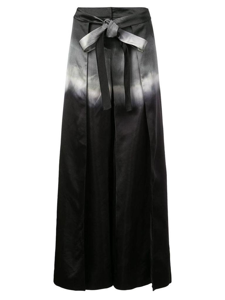 Marina Moscone degrade palazzo trousers - Black
