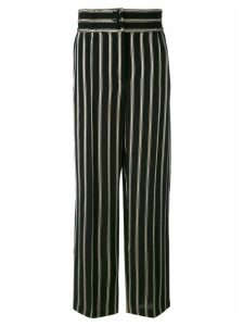 Etro striped straight trousers - Black