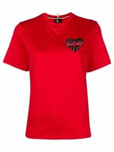 Moncler Grenoble heart mountain T-shirt - Red