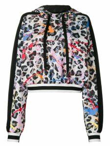 No Ka' Oi leopard print hoodie - Black