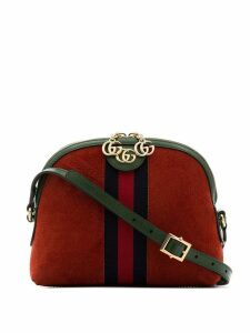 Gucci red Ophidia suede cross body bag