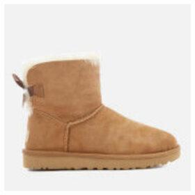 UGG Women's Mini Bailey Bow II Sheepskin Boots - Chestnut
