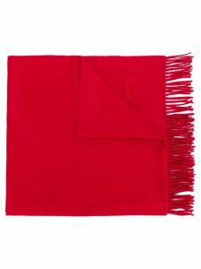 Hermès Pre-Owned cashmere fringed shawl - Red