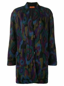 Missoni Pre-Owned 1980's floral boxy coat - Blue