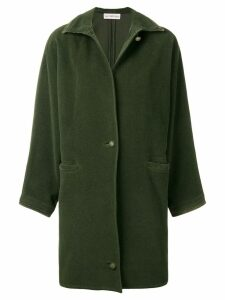 Versace Pre-Owned 1980's straight midi coat - Green