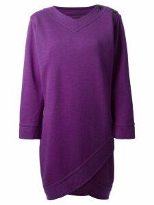 Yves Saint Laurent Pre-Owned oversized shift dress - Purple