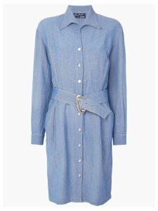 Thierry Mugler Pre-Owned Western shirt dress - Blue