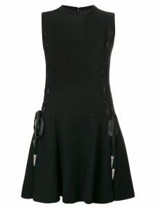 A.N.G.E.L.O. Vintage Cult 1960's lace-up detailing dress - Black
