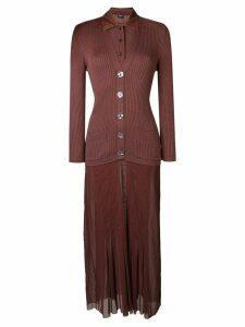 Jean Paul Gaultier Pre-Owned cardigan shirt dress - Brown