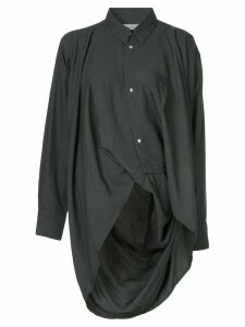 Yohji Yamamoto Pre-Owned long-sleeve asymmetric shirt - Black