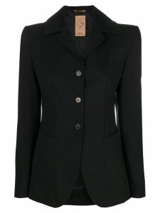 Romeo Gigli Pre-Owned 2000's fitted buttoned jacket - Black