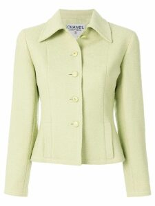 Chanel Pre-Owned fitted tweed jacket - Yellow
