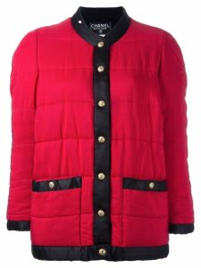 Chanel Pre-Owned contrast puffer jacket - Red
