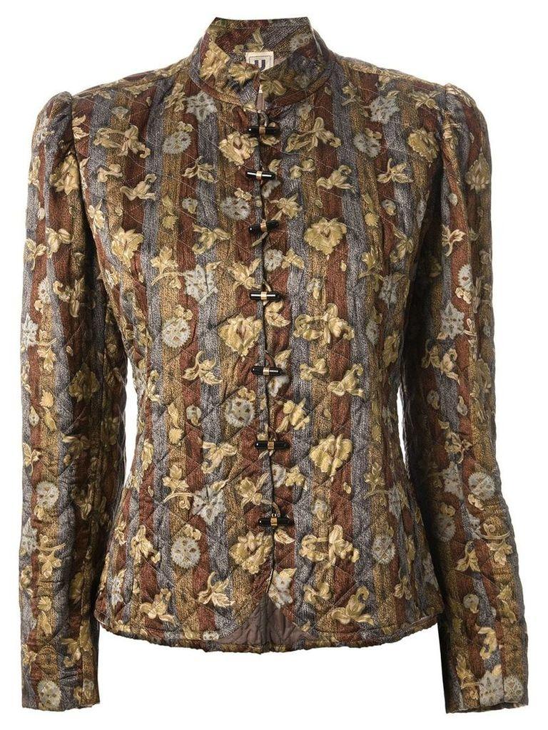 Emanuel Ungaro Vintage floral quilted jacket - Green