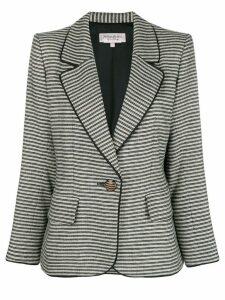 Yves Saint Laurent Pre-Owned 1990's striped slim jacket - Black