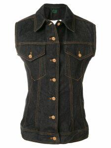 Jean Paul Gaultier Pre-Owned Denim waistcoat - Black