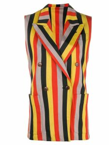 Jean Paul Gaultier Pre-Owned striped double-breasted waistcoat -