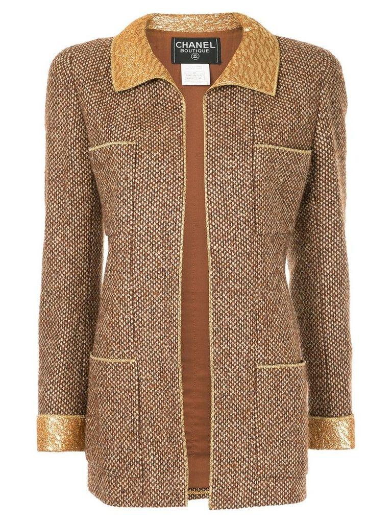 Chanel Vintage tweed fitted jacket - Brown