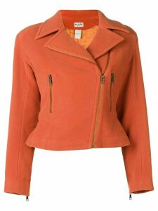 Alaïa Pre-Owned back belt cropped jacket - Yellow